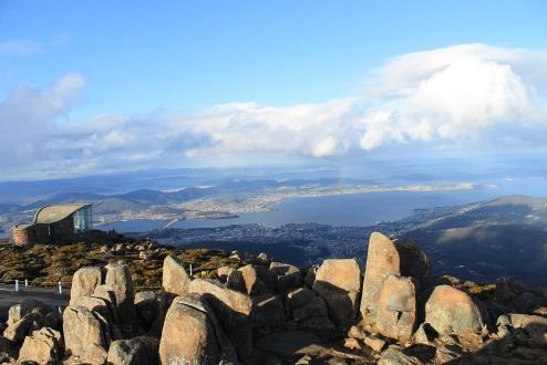 Sicht auf Hobart vom Mount Wellington