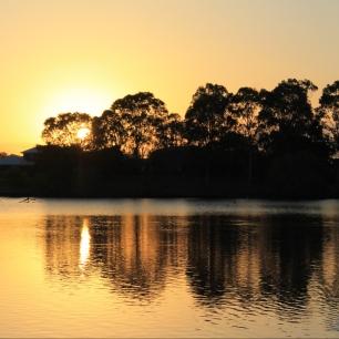 Sonnenuntergang im Botanischen Garten